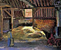 painting Inside Charleston Barn [Click here to see more information about this item]