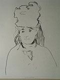 lithograph Portrait of Berthe Morisot [Click here to see more information about this item]