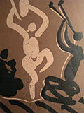 linocut Mother, dancer and musician [Click here to see more information about this item]
