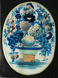 painting A basket of flowers and fruit [Click here to see more information about this item]