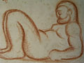 drawing Reclining male nude [Click here to see more information about this item]