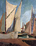 painting The Harbour, St. Tropez [Click here to see more information about this item]