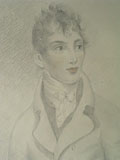 drawing Portrait of Richard Plowden [Click here to see more information about this item]