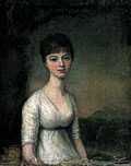 painting Portrait of young woman [Click here to see more information about this item]