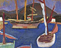 painting Mediterranean Port, La Ciotat [Click here to see more information about this item]