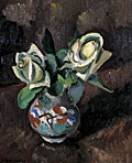 painting Still life- White Roses [Click here to see more information about this item]