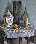 painting Still life with tea pot [Click here to see more information about this item]