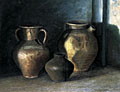 painting Still life of Roman pottery [Click here to see more information about this item]