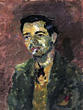 painting Portrait of Victor Passmore [Click here to see more information about this item]