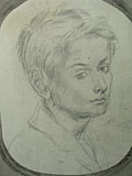 drawing Portrait of Valarian Wellesley [Click here to see more information about this item]