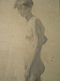 drawing Female nude [Click here to see more information about this item]