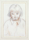 drawing Portrait of Angelica Bell aged three [Click here to see more information about this item]