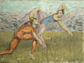 painting Two Acrobats [Click here to see more information about this item]