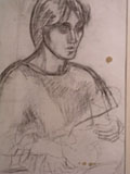 drawing Vanessa Bell with Angelica as a baby [Click here to see more information about this item]