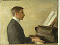 painting Portrait of Saxon Sydney-Turner at the piano [Click here to see more information about this item]