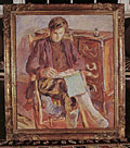 painting Julian Bell writing [Click here to see more information about this item]